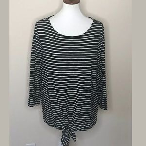 Old Navy Stripe Knot Top